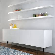 White Floating Shelf Clean Wall Decoration With White Color Floating Shelf Design