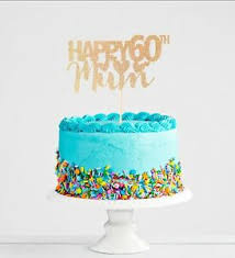 Personalised 60th Birthday Mum Cake Topper Banner Colours Including