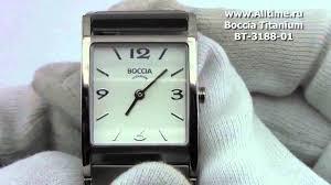 <b>Женские</b> наручные <b>часы Boccia</b> Titanium BT-3188-01 - YouTube