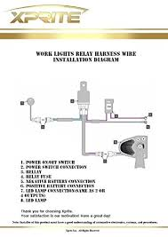 led light bar wiring harness with 2 leg 40 amp relay on off led light bar wiring harness amazon at Led Wiring Harness