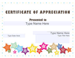 Free Thank You Certificate Templates Certificate Appreciation