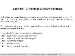 Accounting Interview Questions Awesome Collection Of Entry Level Accountant Interview Questions 14