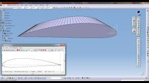 Airfoil Wing Design Catia Aerospace Naca Airfoil Or Aircraft Wing Create Tutorial
