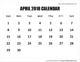 blank 2018 calendar april 2018 calendar printable template pdf notes png jpg