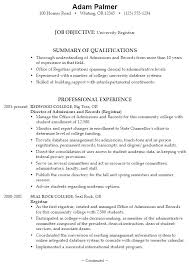 Example Of College Resumes New Sample College Resume Template Samples For High School Senior