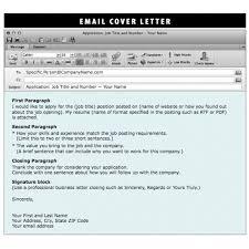 Cover Letter Sample Resume Email Email Sample Sending Resume