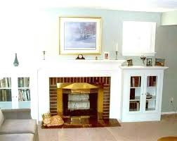 built in shelves around fireplace bookshelves bookcases cabinets a