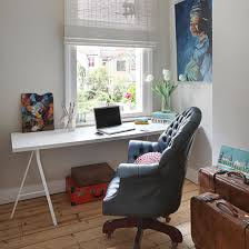 home office arm chair. Grey Home Office With Blue Buttoned Armchair Arm Chair Ideal