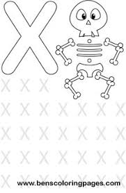 Small Picture Learning alphabet Letter X preschool coloring page