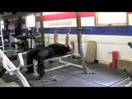 Powerlifting Bench Press Bands And Chains  YouTubeChains Bench Press