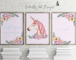 unicorn prints children s prints set of 3 prints unicorns kids wall art unicorn wall art on pastel wall art adelaide with unicorn prints children s prints set of 3 prints
