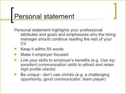 Resume Personal Statement Custom Personal Statements For Resumes Examples Of Resume Infinite