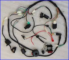 stock in usa 50 70 90 110cc 125cc wire harness wiring cdi assembly chinese 125cc atv wiring diagram at Coolster Atv Wiring Diagram