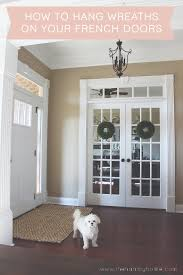 how to hang wreaths on your french doors
