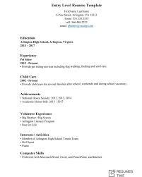 Resume Template For Entry Level Resume Samples To Help You Stand Out From The Crowd