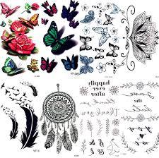 акварель секс бабочка цветок временные татуировки наклейки кружева женщины Body Arm