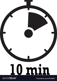 Timer 10 Minutes Timer Icon 10 Minutes Stopwatch Symbol Flat Icon Vector Image
