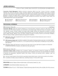 To Resumes Construction Manager Resume Template Resume Template Construction