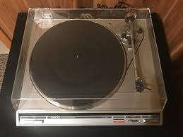 onkyo turntable. onkyo cp-1022a silver vintage belt drive turntable record player