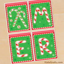 Free Printable Christmas Candy Cane Party Banner