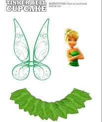 Tinkerbell Template Tinker Bell Cupcakes With Free Printables Growing Up Bilingual