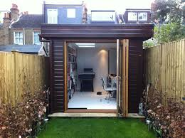 timber garden office. 2.4m X 5.0m Contemporary Garden Office, With A Mono Roof And Bi-Fold Timber Office