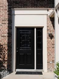 black front doorDIY Black Front Door  The Gathered Home