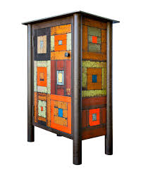 Jim Rose | Tory Folliard Gallery | Art Gallery | Milwaukee WI & ONE DOOR HOUSETOP QUILT CUPBOARD, Hot Rolled and Found, Painted Steel, 39 1 Adamdwight.com