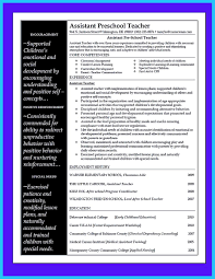 Preschool Teacher Resume Amazing Sample Resume For Preschool Teacher ...