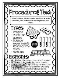 Procedural Text Anchor Chart Worksheets Teaching Resources