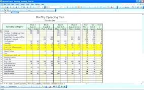 Budget Sheet In Excel Expenses Spreadsheet Template Excel Excel Budget Monthly Budget
