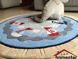 nautical round rugs floor