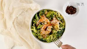 Cook 2 minutes or until shrimp are cooked through. Zucchini Noodles With Garlicky Shrimp Recipe Video