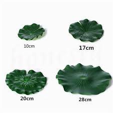 <b>2PCS</b> Artificial Fake Lotus <b>Leaf Flowers</b> Water <b>Lily</b> Floating Pool ...