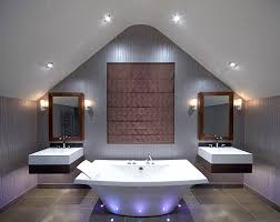 luxury home lighting. Dramatic Lighting And A Statement Tub Luxury Home