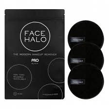 face halo pro black makeup remover pads 3 pack