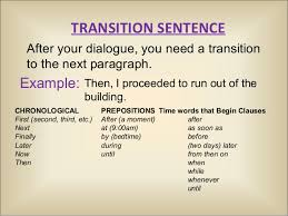 Transition Essay Examples Good Essay Transitions Major Magdalene Project Org