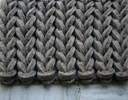 felted wool rug oskar striped grey