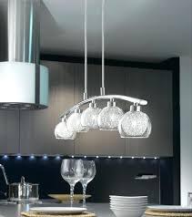 modern curved 5 light kitchen pendant bar chrome hanging lights full size