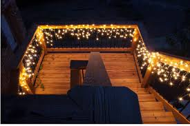 deck stair lighting ideas. Icicle Lights Create An Inviting Outdoor Staircase Deck Stair Lighting Ideas