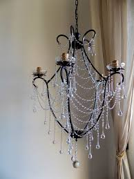 birdcage crystal chandelier clear murano glass crystals drops and chains