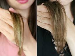 how to dye blonde hair black without it