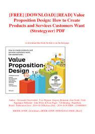 Value Proposition Design Book Pdf Download Free Download Read Value Proposition Design How To