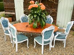 stunning shabby chic antique victorian extending dining table and 6 chairs norfolk country chic