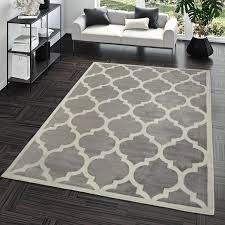 Wohnraumteppiche Günstig Kaufen Ebay Avec Teppich Geometrisch Grau