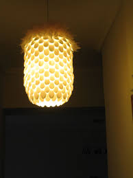 picture of plastic spoon pendant light