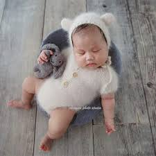 <b>Mink yarn knit newborn</b> dress clothes romper photo props,bunny ...