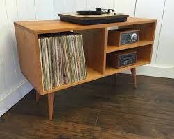 New Mid Century Modern Record Player Console Turntable Best Home