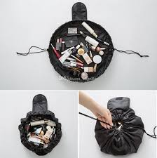 lazy travel cosmetic bag professional drawstring makeup case women make up handbag organizer storage pouch toiletry wash kit bags cosmetics india