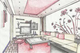 Interior Design Bedroom Drawing 6 Draw Interior Design Bedroom